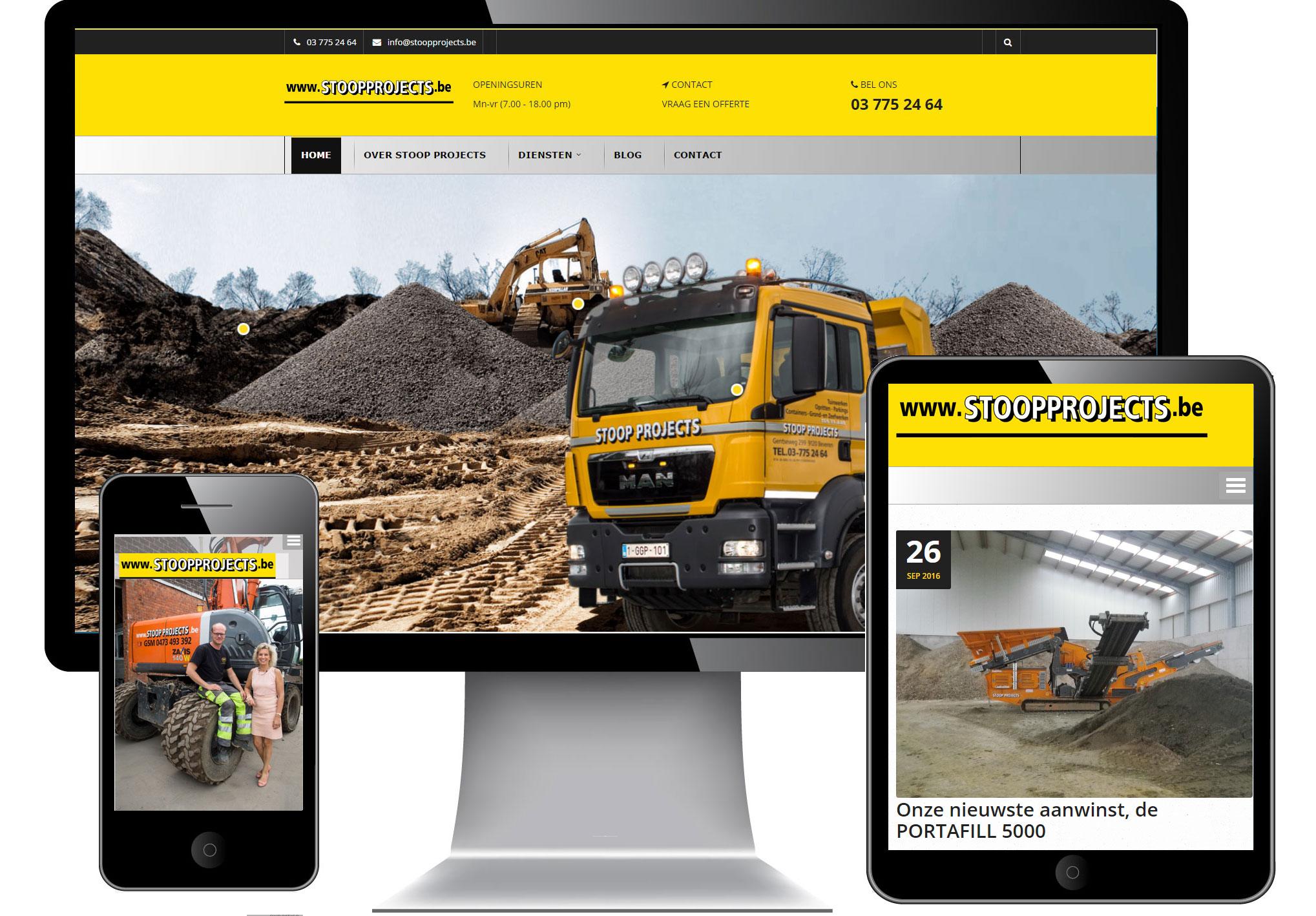 Nieuwe mobielvriendelijke responsive website voor stoopprojects